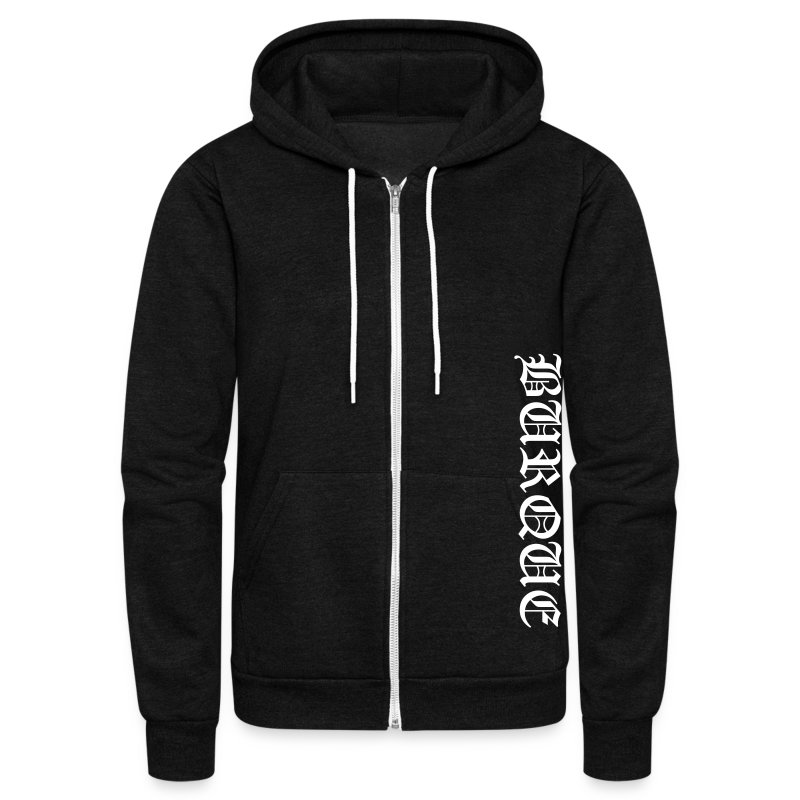 Old English Burque Hoodie - Unisex Fleece Zip Hoodie by American Apparel