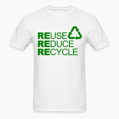 Go green Slogan Reuse Reduce Recycle Mens T-shirts
