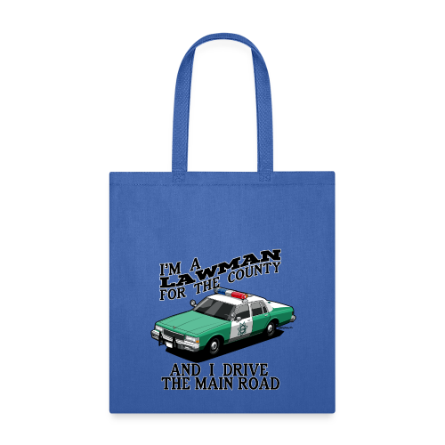 SD County Sheriff Department Vintage Police Car - Tote Bag