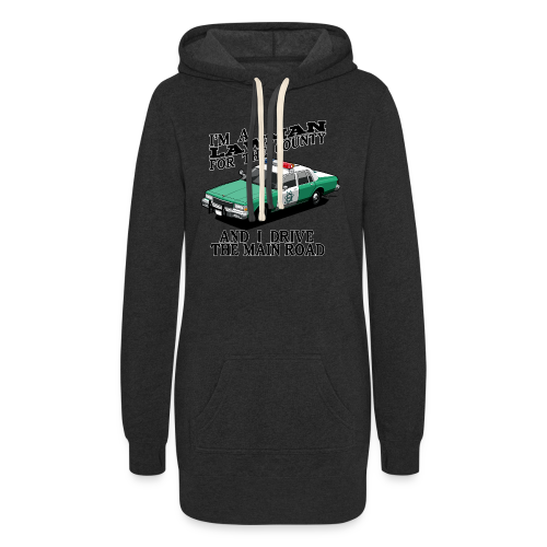 SD County Sheriff Department Vintage Police Car - Women's Hoodie Dress