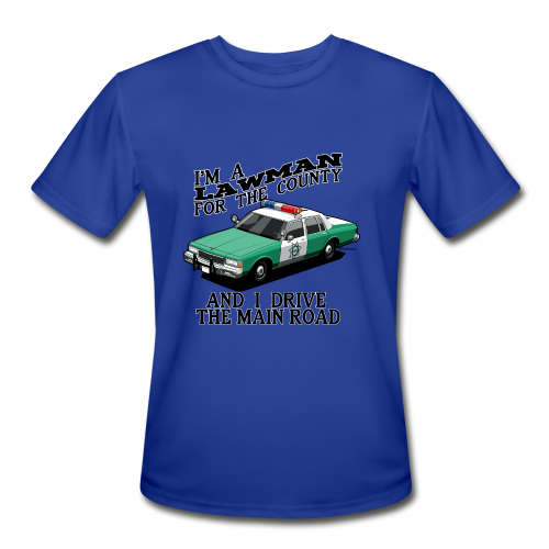 SD County Sheriff Department Vintage Police Car - Men's Moisture Wicking Performance T-Shirt