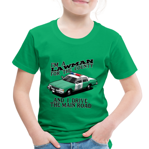 SD County Sheriff Department Vintage Police Car - Toddler Premium T-Shirt