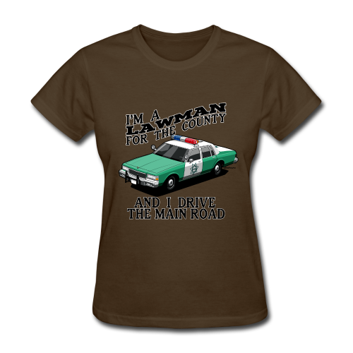 SD County Sheriff Department Vintage Police Car - Women's T-Shirt