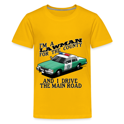 SD County Sheriff Department Vintage Police Car - Kids' Premium T-Shirt