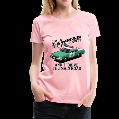 SD County Sheriff Department Vintage Police Car - Women's Premium T-Shirt