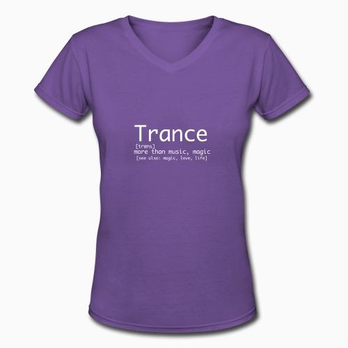 Trance Nerd - Lady - Women's V-Neck T-Shirt