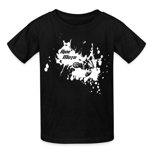 kids ride moto splater - Kids' T-Shirt
