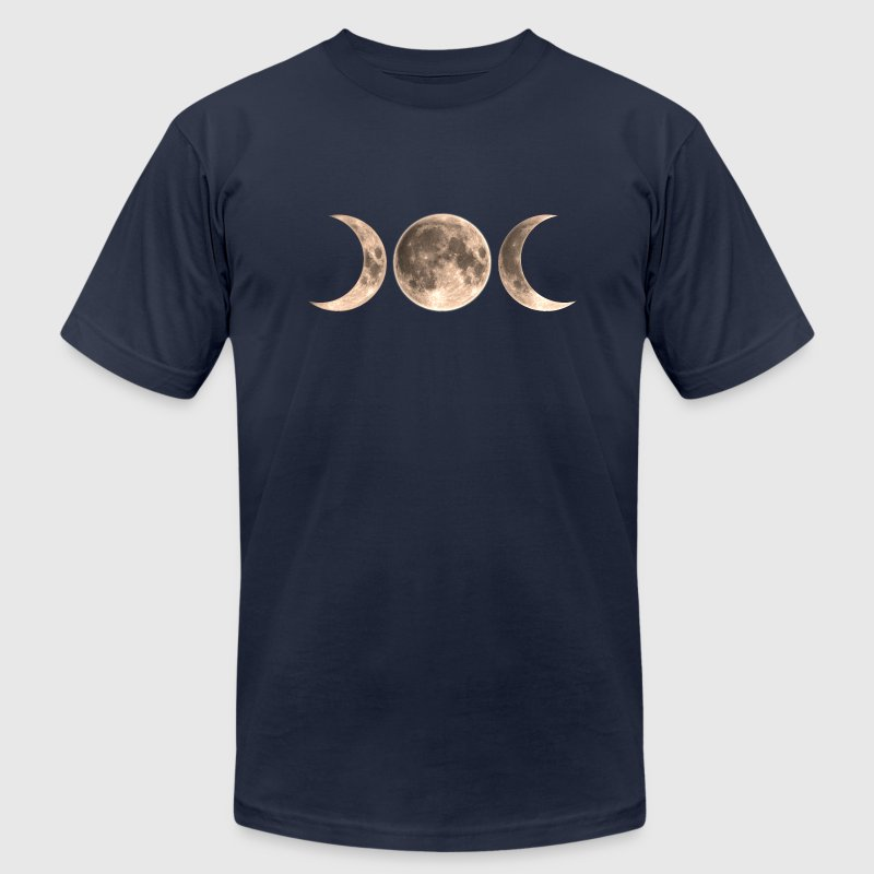 Wicca Moon - triple moon - Goddess symbol T-Shirts - Men's T-Shirt by American Apparel