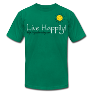 T-Shirts ~ Men's T-Shirt by American Apparel ~ Live Happily!