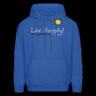 Hoodies ~ Men's Hoodie ~ Live Happily!