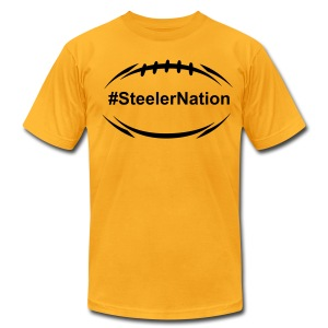 Steeler Nation Football 1 - Men's T-Shirt by American Apparel