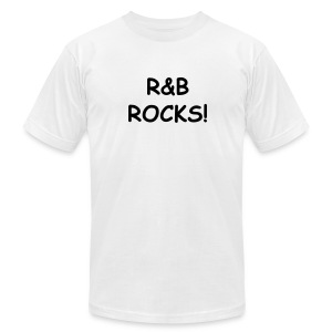 R&B Rocks - Men's T-Shirt by American Apparel
