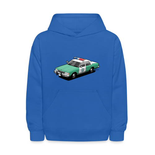 SD County Sheriff Department Vintage Police Car - Kids' Hoodie