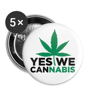 Yes We Cannabis 5-Pack Buttons - Small Buttons