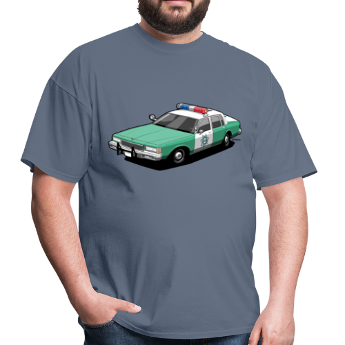 SD County Sheriff Department Vintage Police Car - Men's T-Shirt