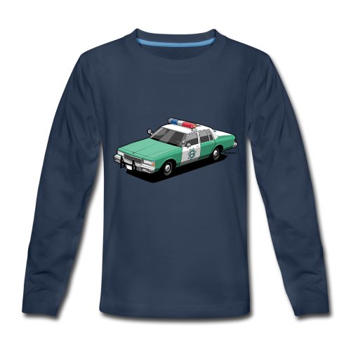 SD County Sheriff Department Vintage Police Car - Kids' Premium Long Sleeve T-Shirt