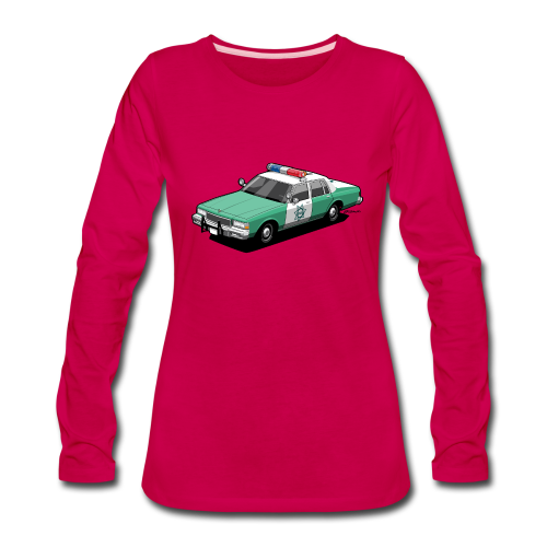 SD County Sheriff Department Vintage Police Car - Women's Premium Long Sleeve T-Shirt