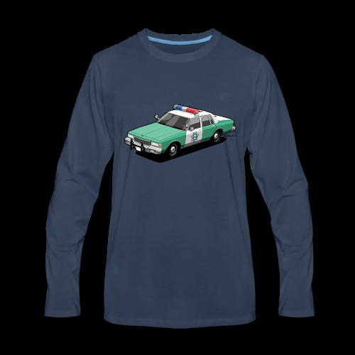 SD County Sheriff Department Vintage Police Car - Men's Premium Long Sleeve T-Shirt