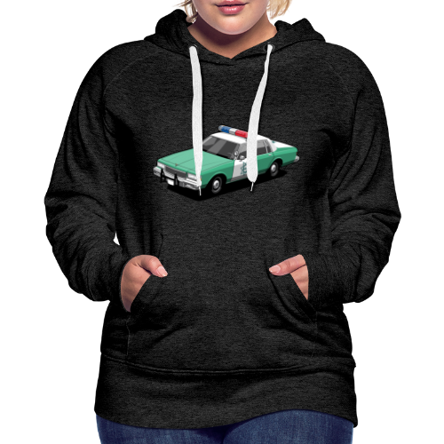 SD County Sheriff Department Vintage Police Car - Women's Premium Hoodie