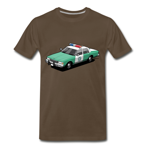 SD County Sheriff Department Vintage Police Car - Men's Premium T-Shirt