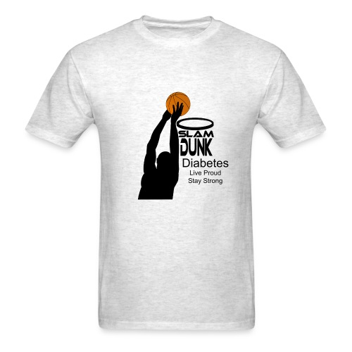 Mens Slam Dunk Diabetes - Men's T-Shirt