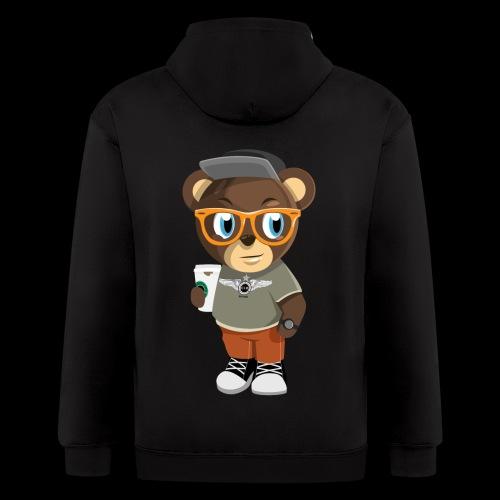 Pook The Bear - Men's Zip Hoodie