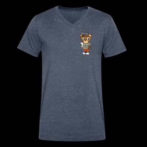 Pook The Bear - Men's V-Neck T-Shirt by Canvas