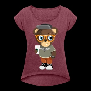 Pook The Bear - Women's Roll Cuff T-Shirt