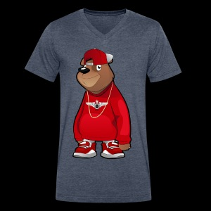 Freddie The Bear - Men's V-Neck T-Shirt by Canvas