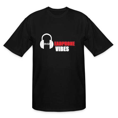 HEADPHONE VIBES BIG & TALL MEN'S  SHIRT - Men's Tall T-Shirt