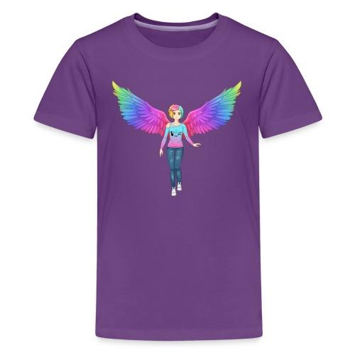 Rainbow Angel Anime Kids Tshirt - Kids' Premium T-Shirt