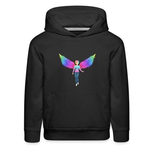 Rainbow Angel Anime Kids Sweatshirt - Kids' Premium Hoodie