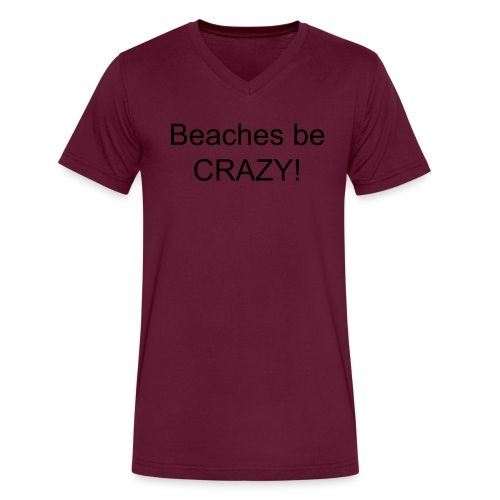 Beach - Men's V-Neck T-Shirt by Canvas