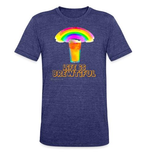 Life Is Brewtiful Unisex Tri-Blend T-Shirt - Unisex Tri-Blend T-Shirt