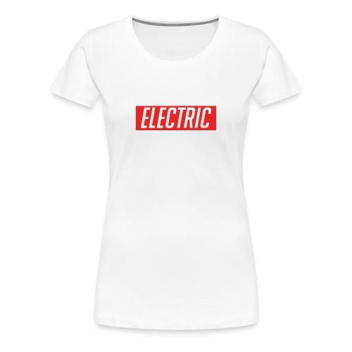 Electric Apparel Premium Women's T-Shirt White - Women's Premium T-Shirt