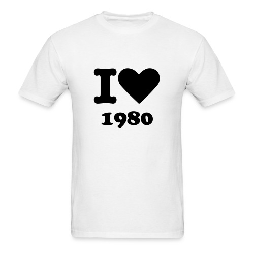 I love 1980 - Men's T-Shirt
