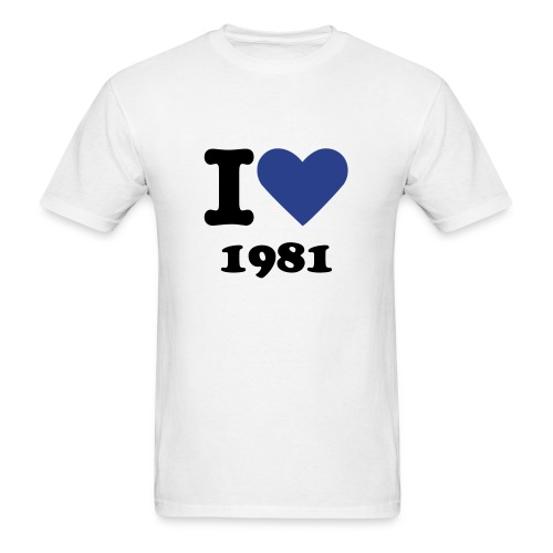 I love 1981 - Men's T-Shirt