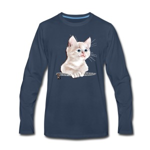Sweet Pocket Kitten - Men's Premium Long Sleeve T-Shirt