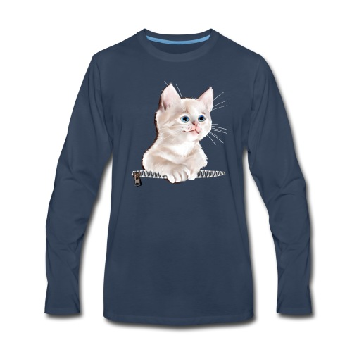 Sweet Pocket Kitten - Men's Premium Long Sleeve T-Shirt