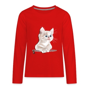 Sweet Pocket Kitten - Kids' Premium Long Sleeve T-Shirt