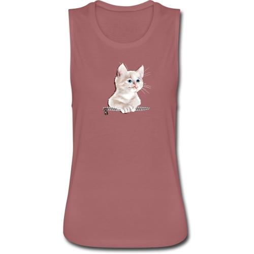 Sweet Pocket Kitten - Women's Flowy Muscle Tank by Bella