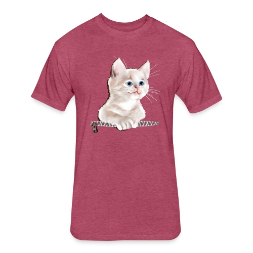 Sweet Pocket Kitten - Fitted Cotton/Poly T-Shirt by Next Level