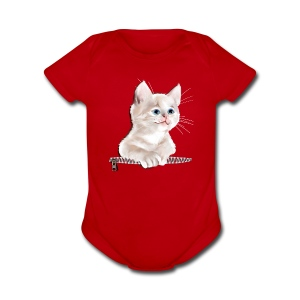 Sweet Pocket Kitten - Short Sleeve Baby Bodysuit