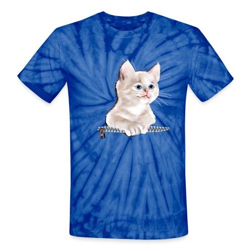 Sweet Pocket Kitten - Unisex Tie Dye T-Shirt