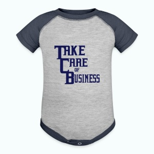 TCB Baby Contrast One Piece Heather Gray/Navy - Baby Contrast One Piece
