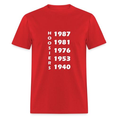 Hoosier Championship Years Men's Tee - Men's T-Shirt