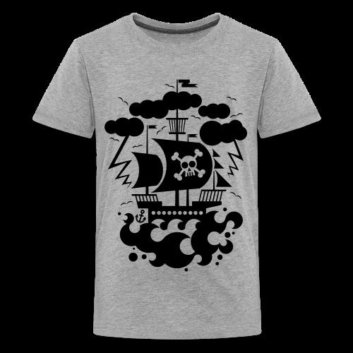 BD Pirate Ship Kids Tshirt (US) - Kids' Premium T-Shirt