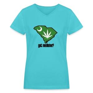 Got Medicine - Women's V-Neck Tee - Women's V-Neck T-Shirt