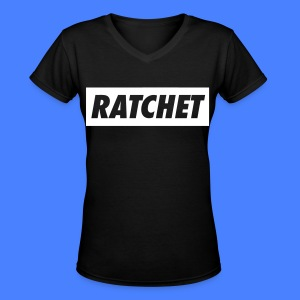 Ratchet Women's T-Shirts - stayflyclothing.com - Women's V-Neck T-Shirt