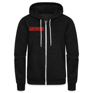 Animoo zip up - Unisex Fleece Zip Hoodie by American Apparel